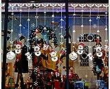ZBYLL Weihnachten Fensteraufkleber Weihnachten Schneemann Raupe Vorhänge Shop Fenster Aus Glas Aufkleber Tür Und Fenster Wand Aufkleber