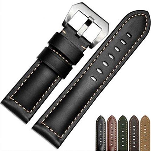 Dummies Gps (Garmin Fenix 5X GPS Watch Armband, OverDose Ersatzband Luxus Lederband Armband Armbanduhr Band Bandschlaufe für Garmin Fenix 5X GPS Watch (Schwarz))