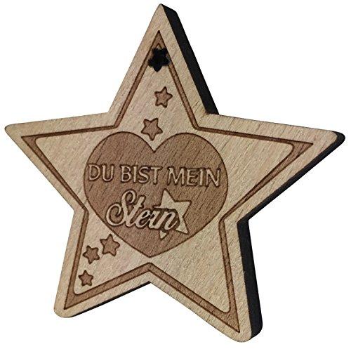 Kühlschrank-Magnet Du bist mein Stern aus Holz sehr gute Qualität Geschenk Liebe