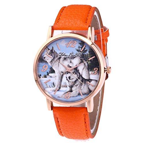 3239a5eb8a678d Armbanduhr Damen Ronamick Zhoulianfa Modische Gürtel Damenuhr Geschenk Mode  Originalität Armband Armbanduhr Uhr Uhren(OR)