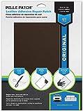 Pelle Patch - Selbstklebender Reparaturflicken für Leder und Vinyl - In 25 Farben erhältlich - Original 20cm x 28cm - Braun