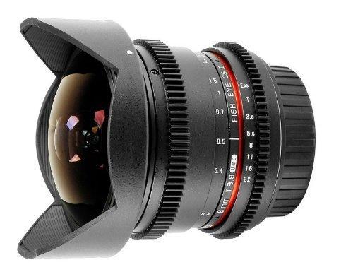 Samyang 8 mm T3.8 - Objetivo ojo de pez para Canon EOS V-DSLR, negro