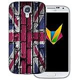 dessana England transparente Silikon TPU Schutzhülle 0,7mm dünne Handy Soft Case für Samsung Galaxy S4 England Flagge