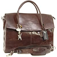 Catwalk Collection Over-Sized Laptop Bag - Vintage Leather - Helena