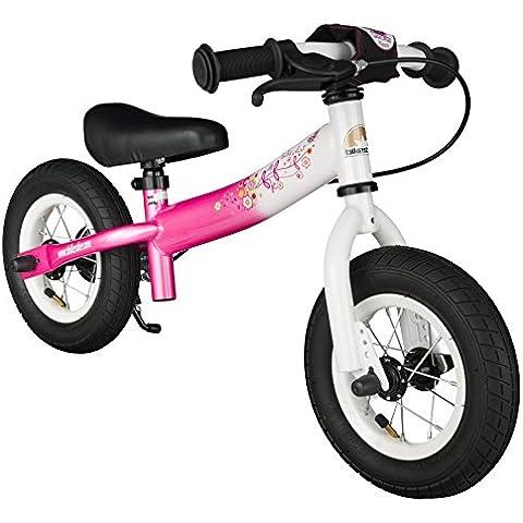 BIKESTAR® Premium 25.4cm (10 pulgadas) Bicicleta sin pedales para pequeños aventureros a partir de 2 años ★ Edición Sport ★ Blanco &