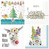 Boston International Papierservietten, Weihnachtsbaum, Llama, Weihnachtsbeleuchtung, Automotiv, 20 Stück