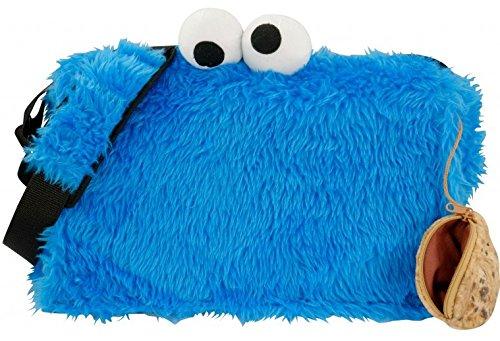 Sesamtrasse Tasche Krümelmonster Plüsch Umhängetasche Schultertasche Cookie Monster Messenger Bag (Tasche Mit Klappe Shirt)