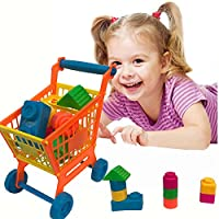 Hotsellhome New Shopping Carts Building Blocks Pretend Play Children Kid Educational Toy Learning Toys