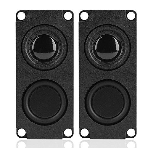 Zerone 8Ohm 5W Schnittstelle Rechteck Lautsprecher Audio Magnet Lautsprecher Verstärker LED TV Lautsprecher PC Computer Notebook Tablet Lautsprecher 2Pcs (Computer-lautsprecher-verstärker)