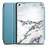 Apple iPad Mini 4 Smart Case hellblau Hülle Tasche mit Ständer Smart Cover Stone Stein Marble