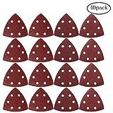 40 pezzi carta vetrata con gancio e passante, borte 9 * 9 * 9 * cm carta abrasiva 6 fori carta vetrata triangolare disco assortiti 40/80/120/240 grane