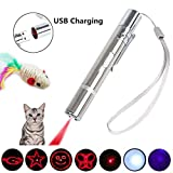 tangren Cat Chaser Toy 7 in 1 Function Interactive Chaser Toys for Cats and Dogs,USB Rechargeable (Pack-1)