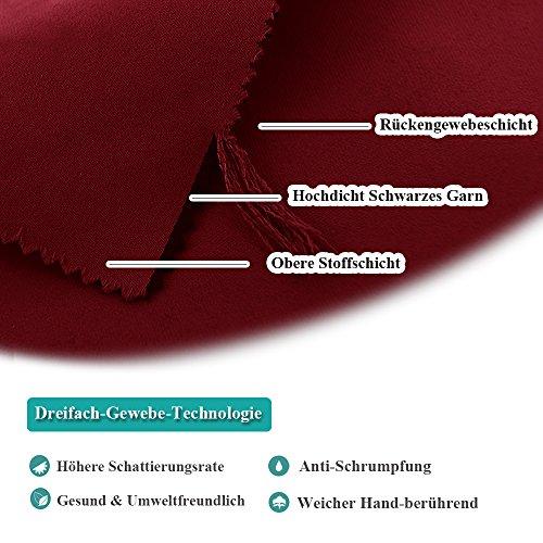 Fashion Blickdicht Vorhang mit Ösen – PONY DANCE 1 Stück 158 x 132 cm (H x B), Rot Vorhänge Verdunkelungsvorhänge geeignet für Saal Wohnzimmer home - 4