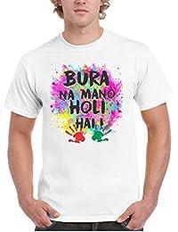 YaYa cafe Holi Bura Na Mano Holi Hai White Holi Mens T-Shirt - Dri-fit