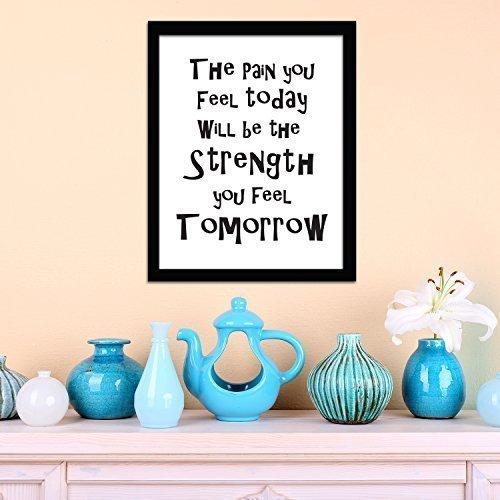 """""""Strenght"""" citazione di motivazione Home Salon camera discoteca Casa caffè ristorante dell"""