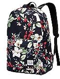 Schulrucksack für Mädchen, Rucksack Damen Vaschy Leichte Frauen Blumen Reise Rucksack passend für 15.6 Zoll Laptop Beiläufig Schultasche