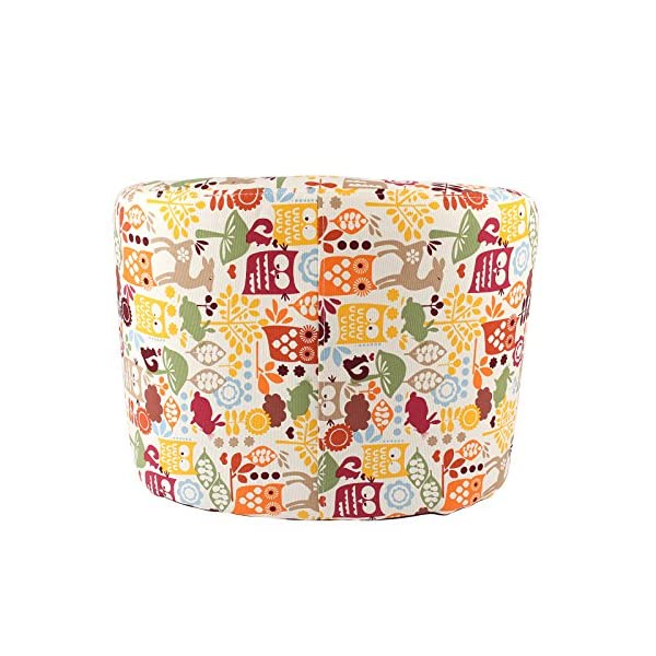 Emall Life Kid's Armchair Children's Tub Chair Cartoon Sofa Wooden Frame (Owl) Emall Life Beautiful cartoon fabric, easy to coordinate; Strong wooden frame, for durability High density foam, for added comfort; Sturdy legs, for a real furniture look Chair size: W50 x D41 x H43 cm; Recommended age: 2-4 years old 3