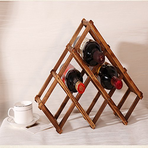 fan-tastik-6-bottle-pine-wooden-folding-wine-rack-carbonized-color