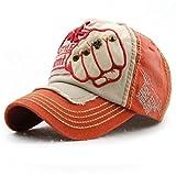 #6: Handcuffs Stylish Cotton Baseball Adjustable Orange Cap For Men/Women