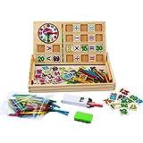 Kinder Mathe Spielzeug, Cellstar Holzpuzzel mit doppelseitig Tafel Mathmatik Rechnen Spielzeug Holzspielzeug für Kinder (Mathe Spiele)