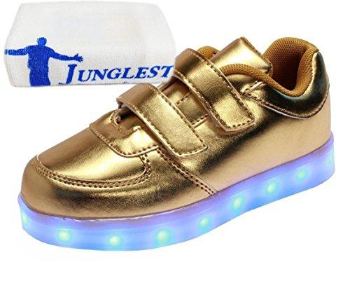 junglest® Sportsschu Jungen Led Kinder present Sneaker Schuhe Mädchen Farbwechsel kleines Leuchtend Fluorescence Turnschuhe Handtuch Gold IqwwEO