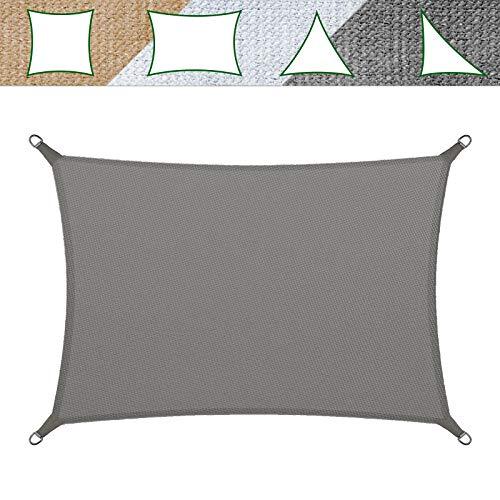 casa pura Sonnensegel für Garten, Terrasse & Balkon | wetterbeständig, UV-stabilisiert & atmungsaktiv | Sonnenschutz | Farbe Grau, rechteckig 5x7m