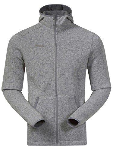 Bergans Klokkelyng Jacket Men - Kapuzenfleece grey melange
