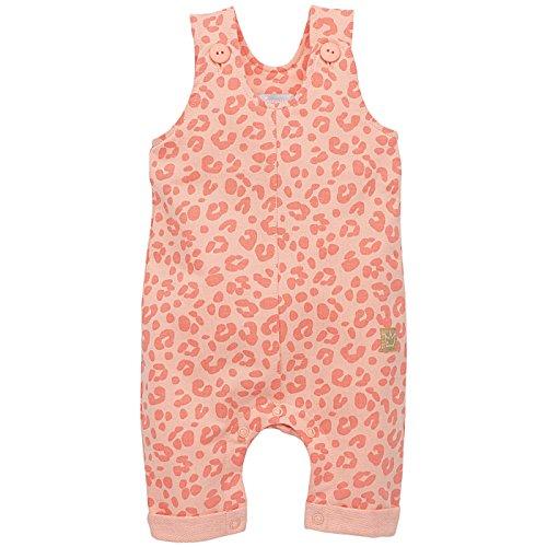 Pinokio - Sweet Panther- Overall - Baby, Mädchen - 100% Baumwolle - Lachs Rosa Leo-Muster Leopard, Latzhose mit Knöpfen (68) -