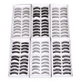 PANYTOW False Eyelashes 6 Different Designs Pack of 60