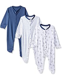 Mothercare Baby Boys' Regular Fit Cotton Sleepsuit (Pack of 3)