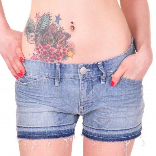 BILLABONG Damen Shorts Ulu Short Women denim bleached 29 - Womens Designer-bermuda