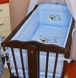 Best Belle Baby Cribs - 6 pcs bedding set /Bumper ALL ROUND 260cm/sheet/duvet/ Review