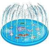 Tossi Splash Pad, 170cm Wasser-Spielmatte Wasserbefülltes Baby-Spielzeug Sprinkler und Splash Play Matte Interessant -Blume Pad,Sommer Garten Wasserspielzeug für Baby, Kinder,Hund und Haustiere