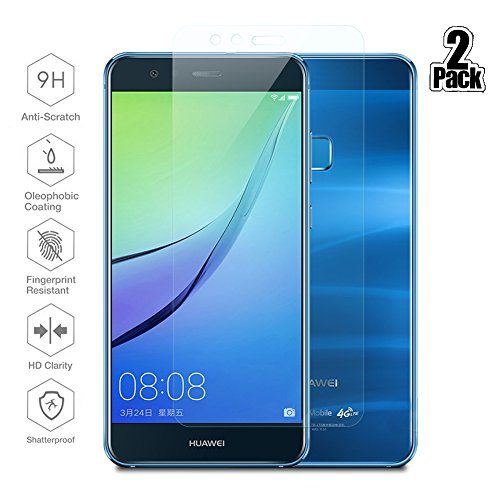 [2 Stück] Huawei P10 Lite Schutzfolie, Beyeah Panzerglas Displayschutzfolie [9H Härte] [Anti-Kratzen] [Anti-Öl] [Anti-Bläschen] [lebenslange Garantie]