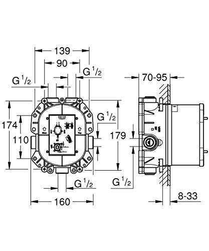 GROHE Grohe Rapido T | Brause- und Duschsysteme - Unterputz-Universal-Thermostat | 35500000