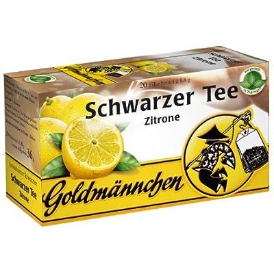 Goldmännchen Thé noir au citron, 20 Sachets de Thé