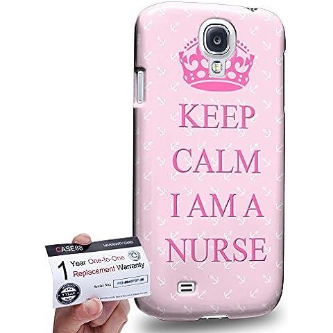 Case88 [Samsung Galaxy S4] 3D impresa Carcasa/Funda dura para & Tarjeta de garantía - keep calm I am a nurse DSE0286