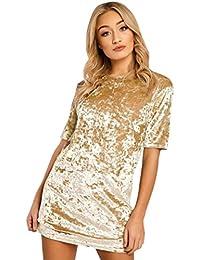 8c5c0820c Amazon.es  Vestidos Cortos Dorados - Ajustado   Vestidos   Mujer  Ropa