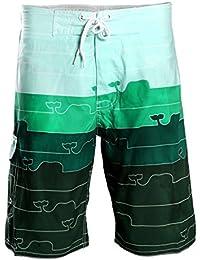 Huntvp Pantalones Cortos con Bolsillo Traje de Baño Deportivo de Secado Rápido Bañador de Playa de los Hombres