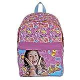 Sac à dos fillette Disney Soy Luna - Sac à dos pour l'école élémentaire avec bandoulières réglables et impression Disney Soy Luna - Perletti 38x26x16 cm