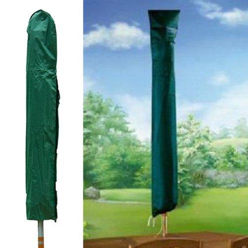 Sonnenschirm-Abdeckung, Grün, 150 cm, starke, haltbar, auch für rotierende Wäschetrockner, maschinenwaschbar, mit Kordelzug (Kordelzug Haltbares)