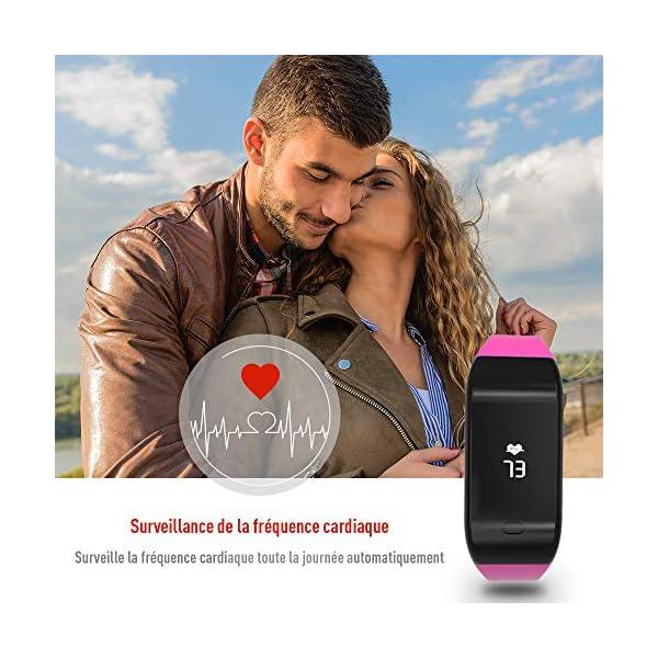 Fitpolo Pulsera de Actividad,Reloj Inteligente para Hombre y Mujer, IP68 Impermeable Reloj Deportivo con Rtmo Cardíaco… 5