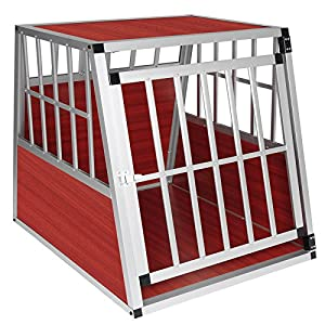 WOLTU® #857 Cage aluminium de chien avec 1 porte,cage de chien boîte de transport,Taille environ 85 x 65 x 69 cm