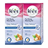 #10: Veet Full Body Waxing Kit for Sensitive Skin - 20 Strips (Pack of 2)