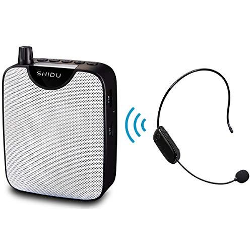 SHIDU UHF Amplificador Voz Clip Portátil inalámbrico