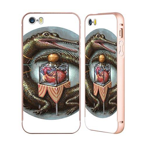 Ufficiale Jason Limon Catturato Random Oro Cover Contorno con Bumper in Alluminio per Apple iPhone 5 / 5s / SE Cuore Impervio