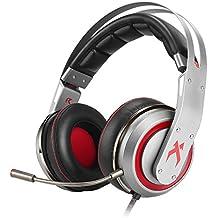 XIBERIA T19 7.1 Auriculares del Juego con Sonido Envolvente Virtual que encima de las Orejas y Micrófono Separable para PC,PS4 (USB)