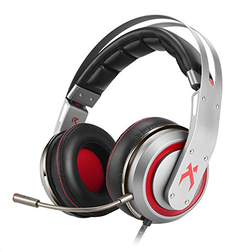 XIBERIA T19 Surround Sound Gaming Headset, Over-ear Kopfhörer mit Abnehmbarem Mikrofon (USB)