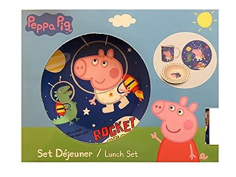Neuf Peppa Pig pour enfant 3pièces en céramique déjeuner dîner Ensemble de petit déjeuner–George