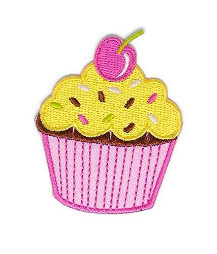 Dessert-Stickerei Sew Iron on Patch Cartoon Sew Iron on Embroidered Aufnäher Craft handgefertigt, Baby Kinder Mädchen Frauen Kleidung DIY Kostüm Zubehör ()